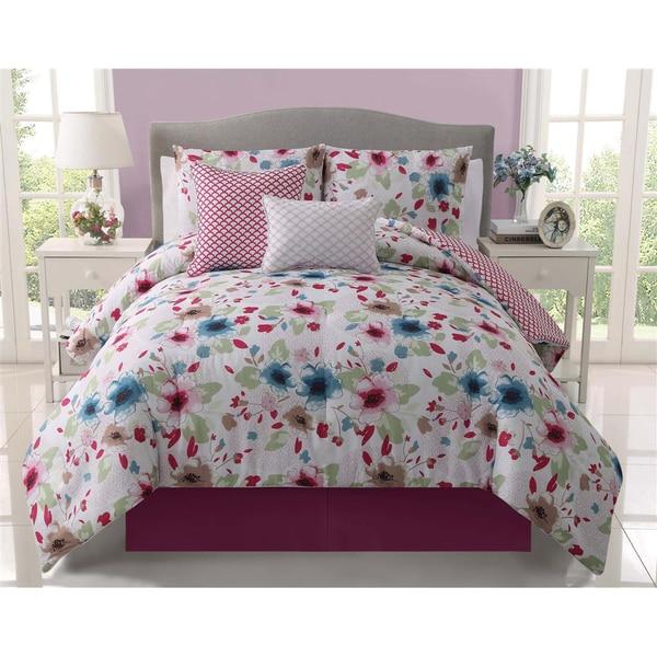 VCNY Natalie Reversible 5-piece Comforter Set