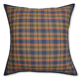 Brown Plaid Euro Sham