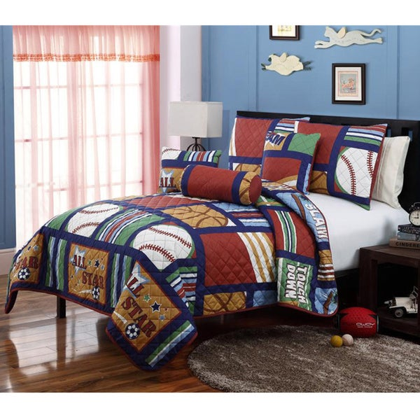 VCNY All Star Cali Collection 5-piece Quilt Set