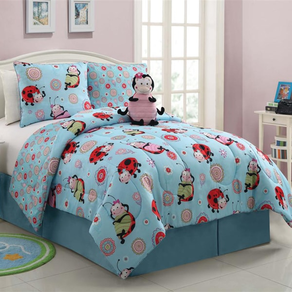 VCNY Lola The Lady Bug Reversible 3-piece Comforter Set