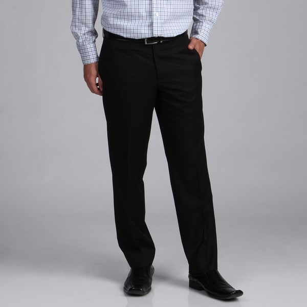 English Laundry Men's Slim Fit Black Dress Pants