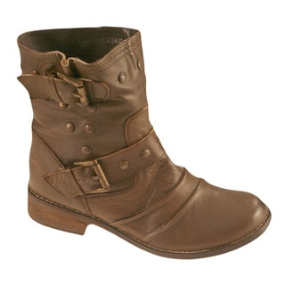 MIA Women's Xenia Buckle Shaft Ankle Boots