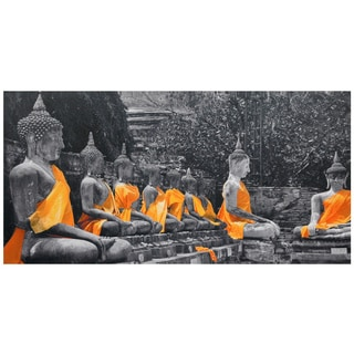 Golden Sash Buddhas Canvas Wall Art