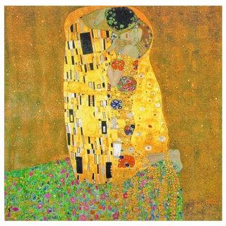 Works of Klimt 'The Kiss' Canvas Wall Art