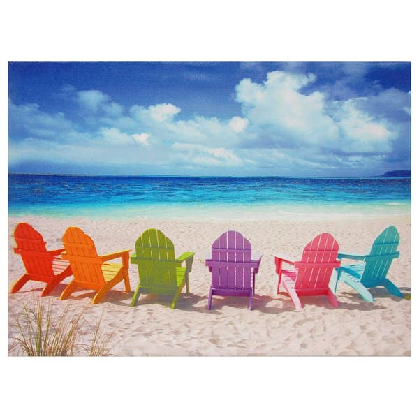 Beach Chairs Canvas Wall Art  sc 1 st  Overstock.com & Shop Beach Chairs Canvas Wall Art - Free Shipping On Orders Over $45 ...