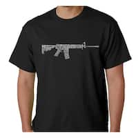 Los Angeles Pop Art Men's AR-15 Second Amendment Cotton T-Shirt