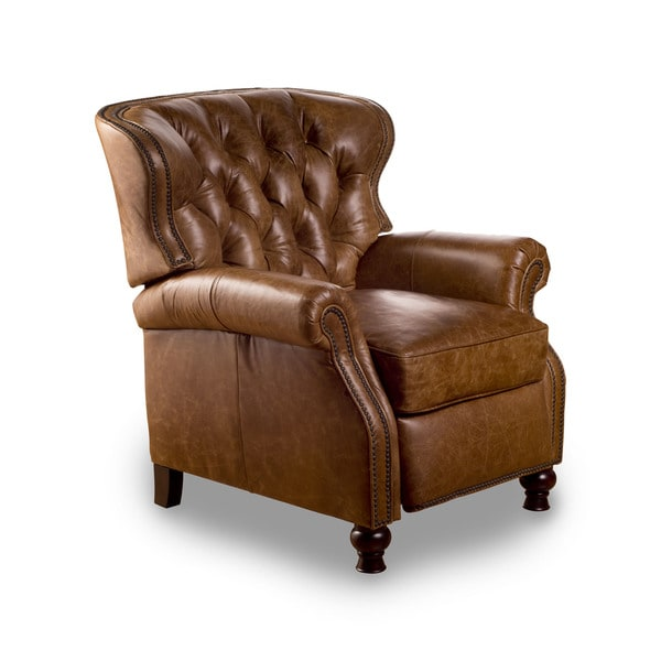 Shop Cambridge Chaps Saddle Leather Recliner Free