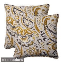 Pillow Perfect Outdoor Paisley Corded 18.5-Inch Throw Pillows (Set of 2)