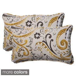Pillow Perfect Outdoor Paisley Corded Rectangular Throw Pillows (Set of 2)