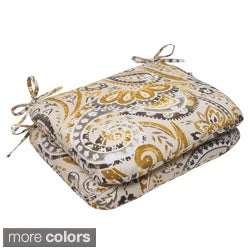 Pillow Perfect Outdoor Paisley Rounded Seat Cushion (Set of 2)