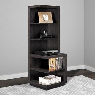 Avenue Greene Cloverman Espresso Audio Stand/ Bookcase