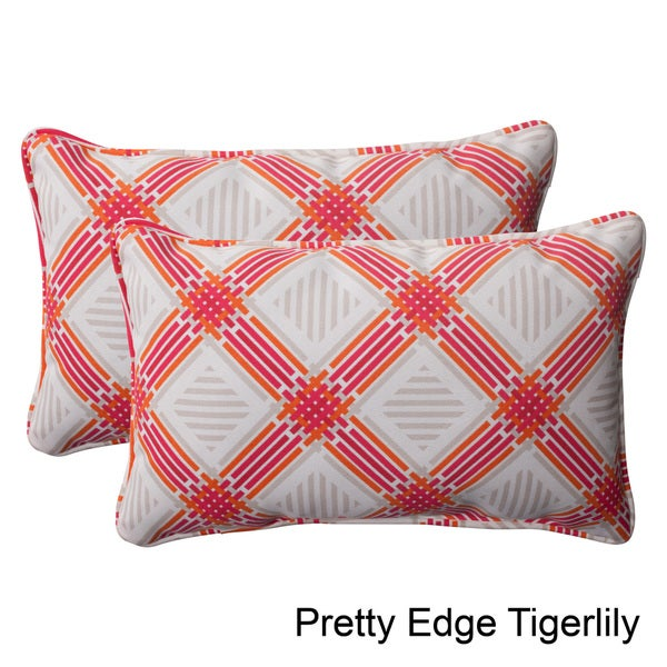 Pillow Perfect Outdoor Pretty Edge Corded Rectangular Throw Pillow (Set of 2)