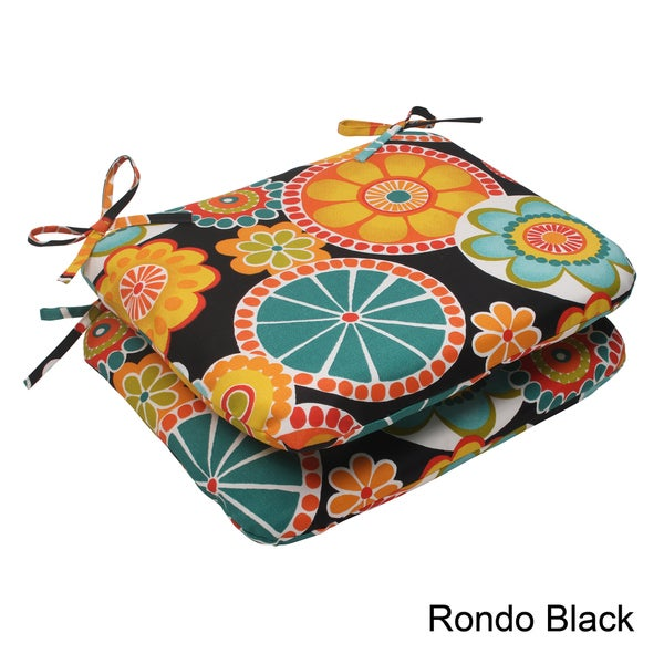 Pillow Perfect Outdoor Rondo Rounded Seat Cushion (Set of 2)