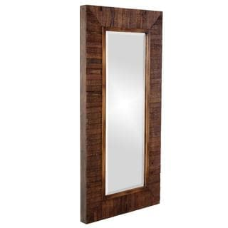 Timberlane Rustic Wood Plank Framed Mirror