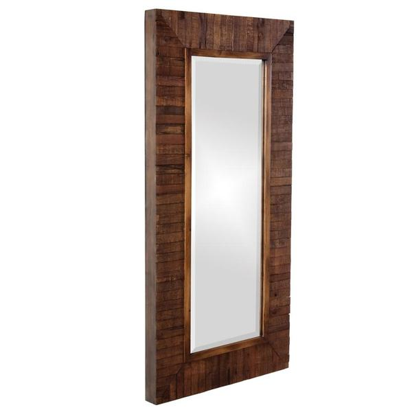 Timberlane Rustic Wood Plank Framed Mirror Free Shipping