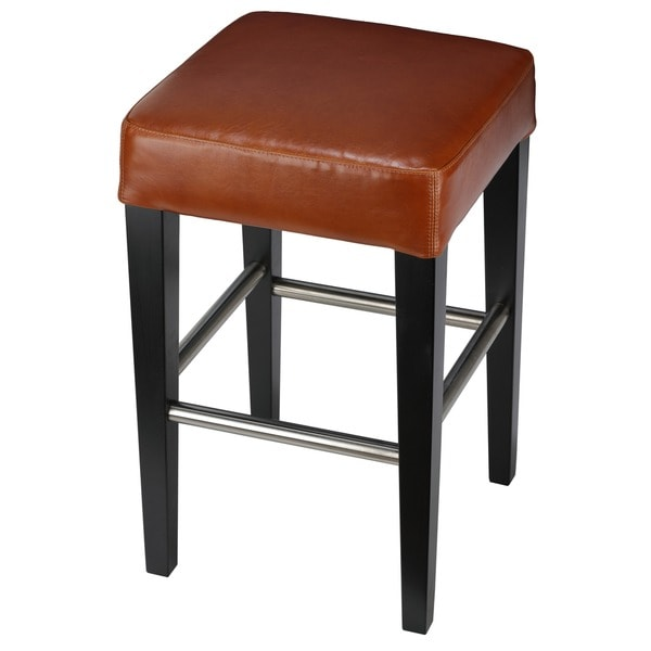 Cortesi Home 24-inch Leather Counter Stool - Free Shipping Today - Overstock.com - 15245874  sc 1 st  Overstock.com & Cortesi Home 24-inch Leather Counter Stool - Free Shipping Today ... islam-shia.org