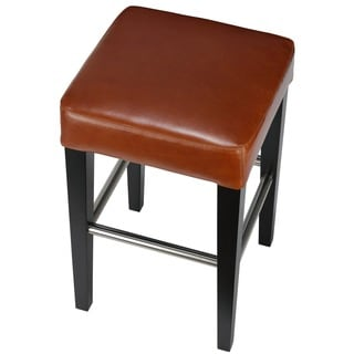Cortesi Home 24-inch Leather Counter Stool