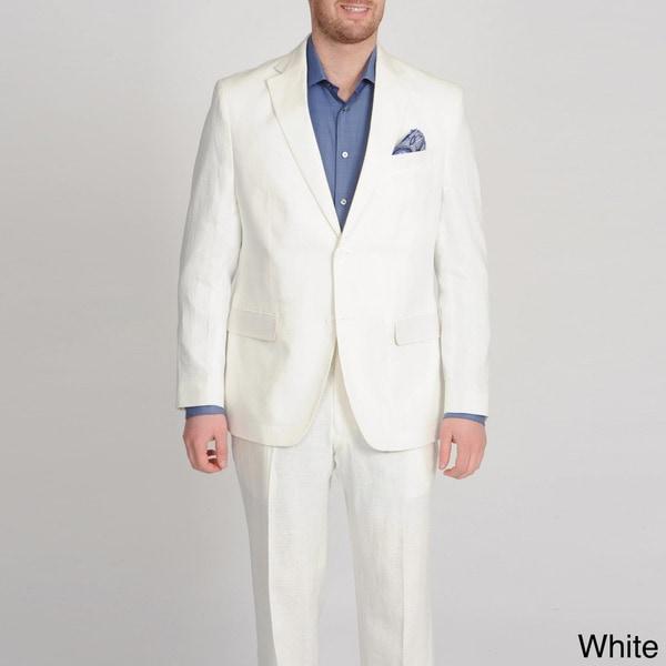 U & I Men's Linen 2-button Suit