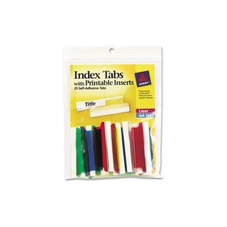 Avery Self-Adhesive Assorted Tabs with Printable Inserts (Pack of 25)