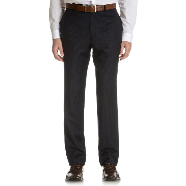 Tommy Hilfiger Men's Navy Pinstripe Wool Suit Pant Separates