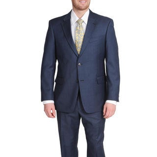 Tommy Hilfiger Men's Blue Shark Wool Suit Jacket Separate (Option: 38r)