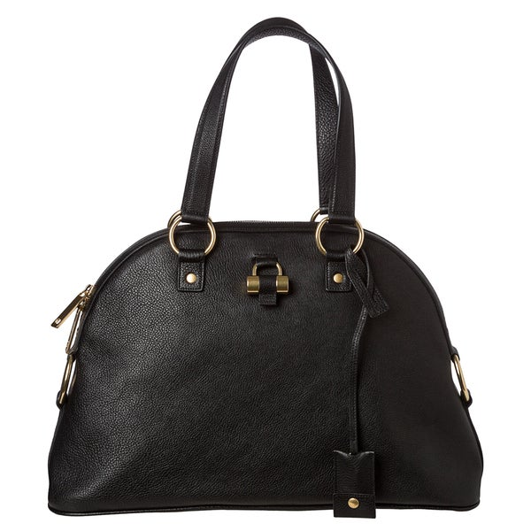 Yves Saint Laurent 'Muse' Leather Dome Handbag