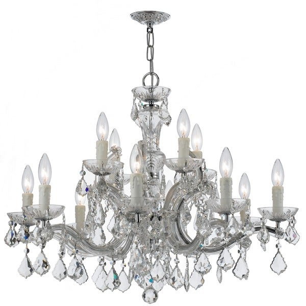 High Quality Crystal Ceiling Fan 8 Home Style Double Lit: Shop Crystorama Maria Theresa Collection 12-light Chrome