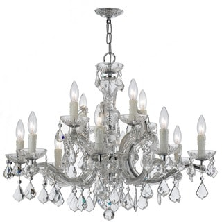 Crystorama Maria Theresa Collection 12-light Chrome/ Crystal Chandelier
