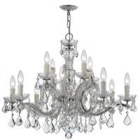 Crystorama Maria Theresa Collection 12-light Chrome/ Crystal Chandelier