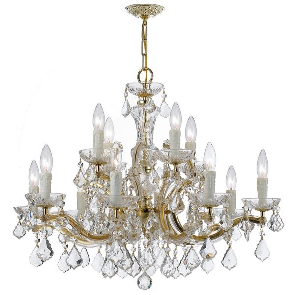 Crystorama Maria Theresa Collection 12-light Gold Chandelier