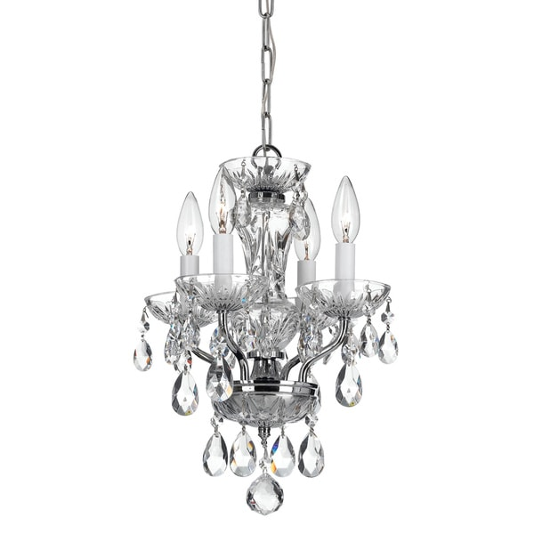 Crystorama Transitional 4-light Chrome/ Crystal Chandelier