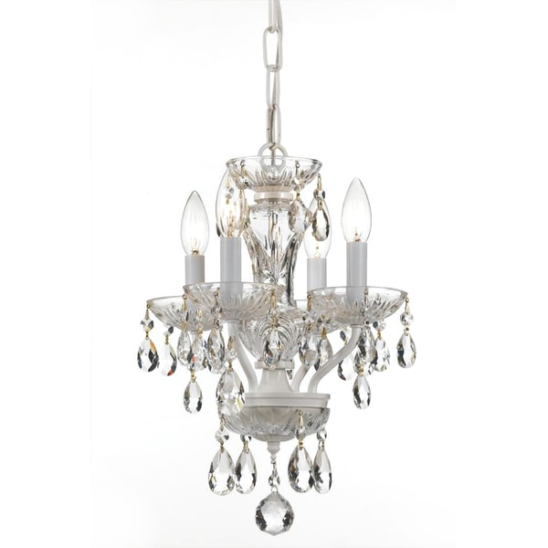 Crystorama Transitional 4-light Warm White/ Crystal Chandelier