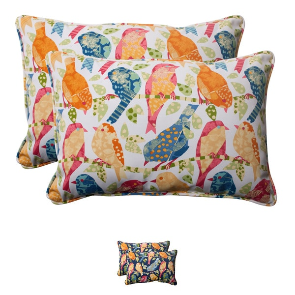 Shop Pillow Perfect Ash Hill Polyester Corded Outdoor Rectangular