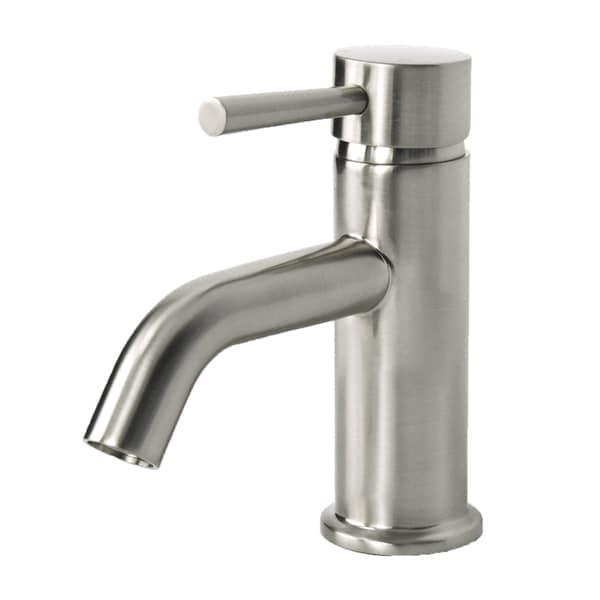 European Brushed Nickel Single Hole Bathroom Faucet