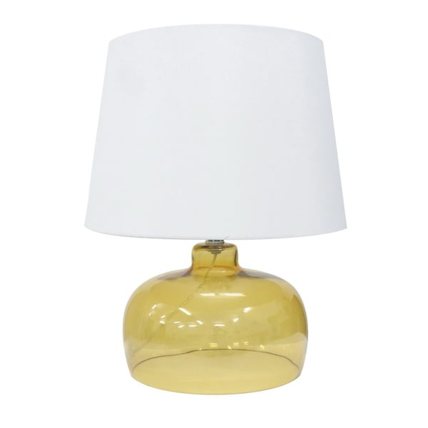 Integrity 20-inch Yellow Opal Glass Table Lamp