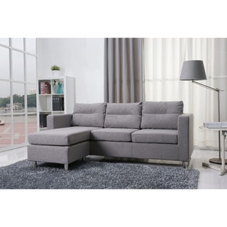 Detroit Ash Convertible Sectional Sofa and Ottoman