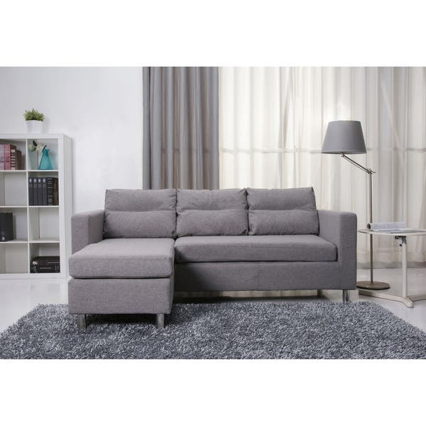 Incredible Shop Detroit Ash Convertible Sectional Sofa And Ottoman Dailytribune Chair Design For Home Dailytribuneorg