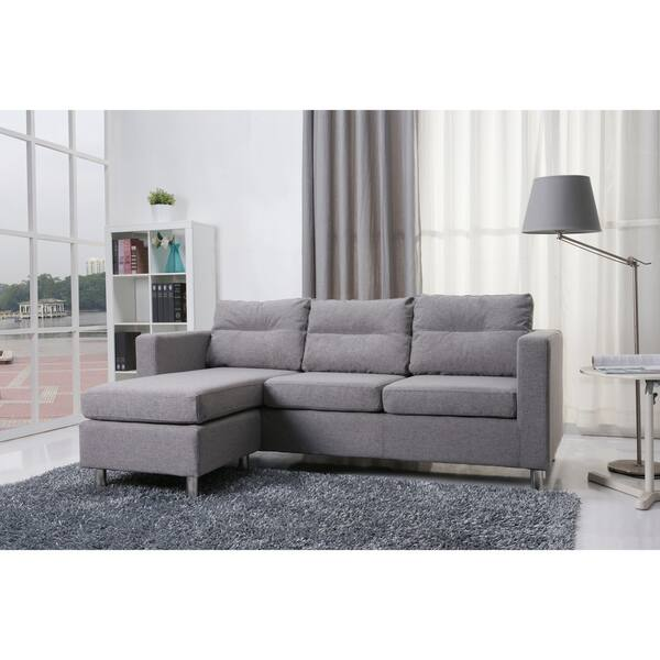 Fantastic Shop Detroit Ash Convertible Sectional Sofa And Ottoman Dailytribune Chair Design For Home Dailytribuneorg
