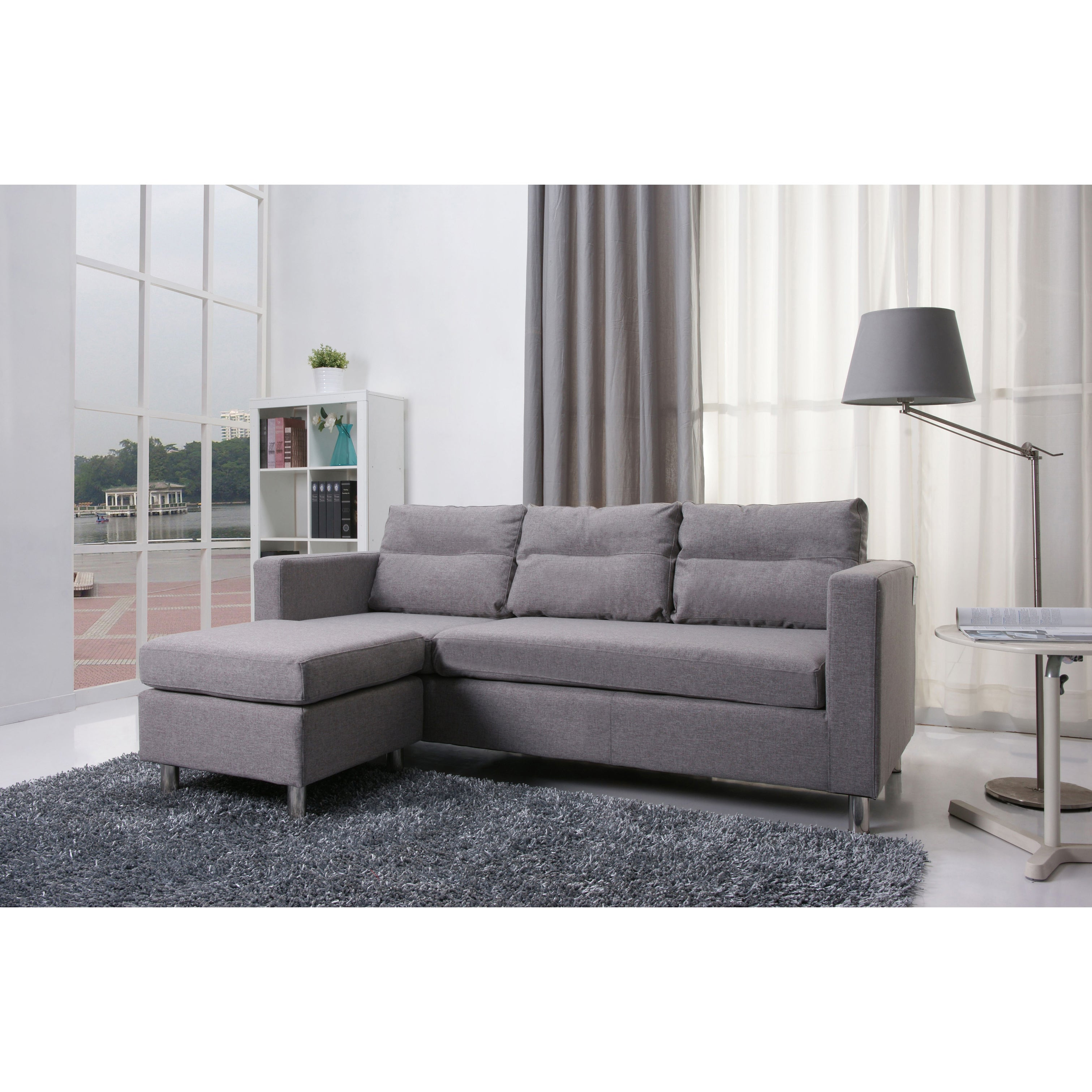 Cool Detroit Ash Convertible Sectional Sofa And Ottoman Dailytribune Chair Design For Home Dailytribuneorg