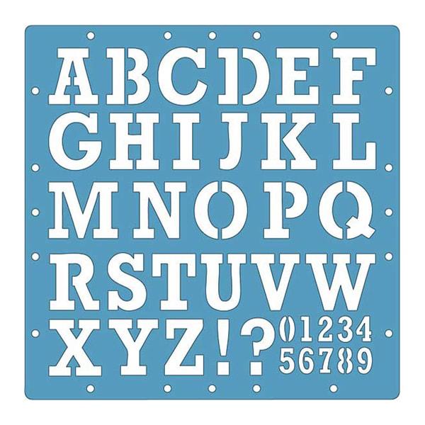 Fiskars 12x12 Alphabet/ Numerical Embossing Stencils