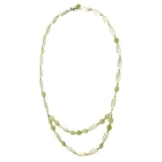 Sterling Silver 'Good Fortune' Beaded Necklace