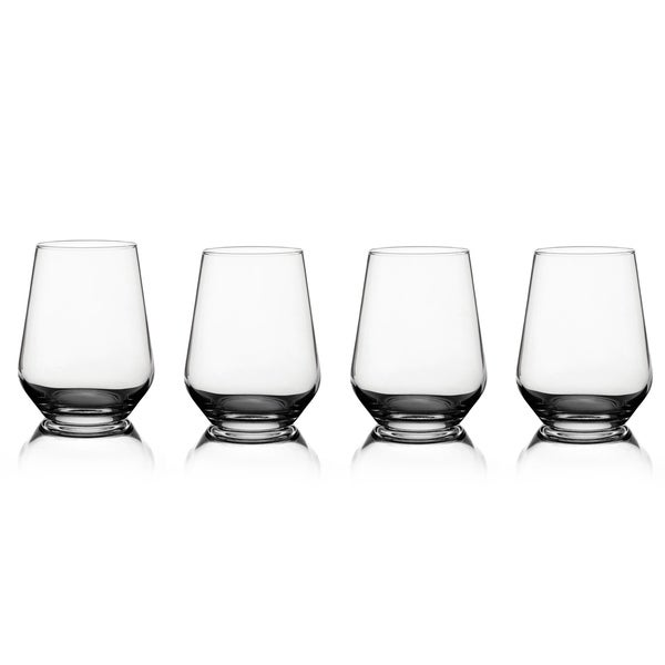 Fifth Avenue Crystal Napa Stemless Wine Glasses (Set of 4)