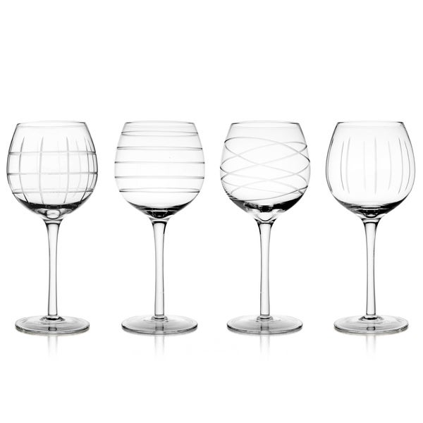 Fifth Avenue Crystal Medallion 13 ounce Goblets (Set of 4)