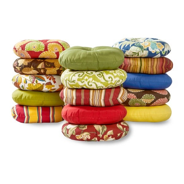 15inch round outdoor kinnabari stripe bistro chair cushions set of 2 free shipping on orders over 45