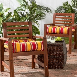 20-inch Outdoor Carnival Chair Cushion (Set of 2)