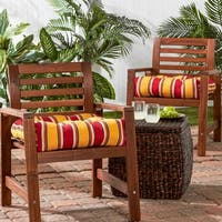 Porch & Den Rosewood Coleto 20-inch Outdoor Stripe Chair Cushion (Set of 2)