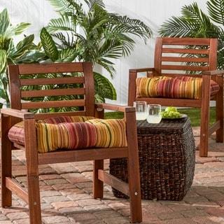 20-inch Outdoor Kinnabari Stripe Chair Cushion (Set of 2)