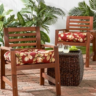 20-inch Outdoor Roma FloralChair Cushion (Set of 2)