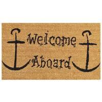 Welcome Aboard Doormat (1'5 x 2'5)