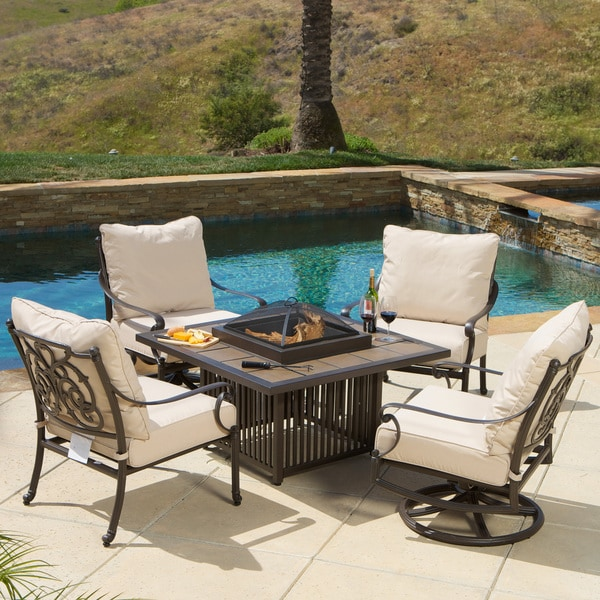 Shop Hemmingway 5 Piece Fire Pit Set Free Shipping Today